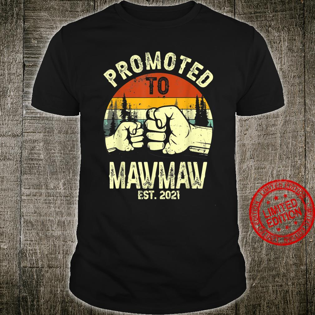 Vintage Promoted To Mawmaw Est 2021 Thanksgiving Shirt